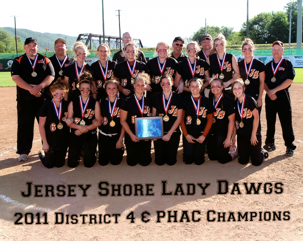 Jersey Shore Lady Dawgs 2011 District 4 PHAC Champions
