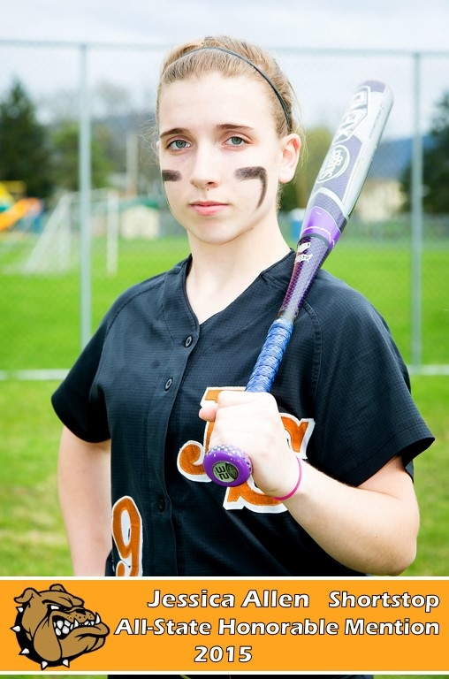 Jessica Allen - Shortstop - All State Softball Honorable Mention - 2014-15