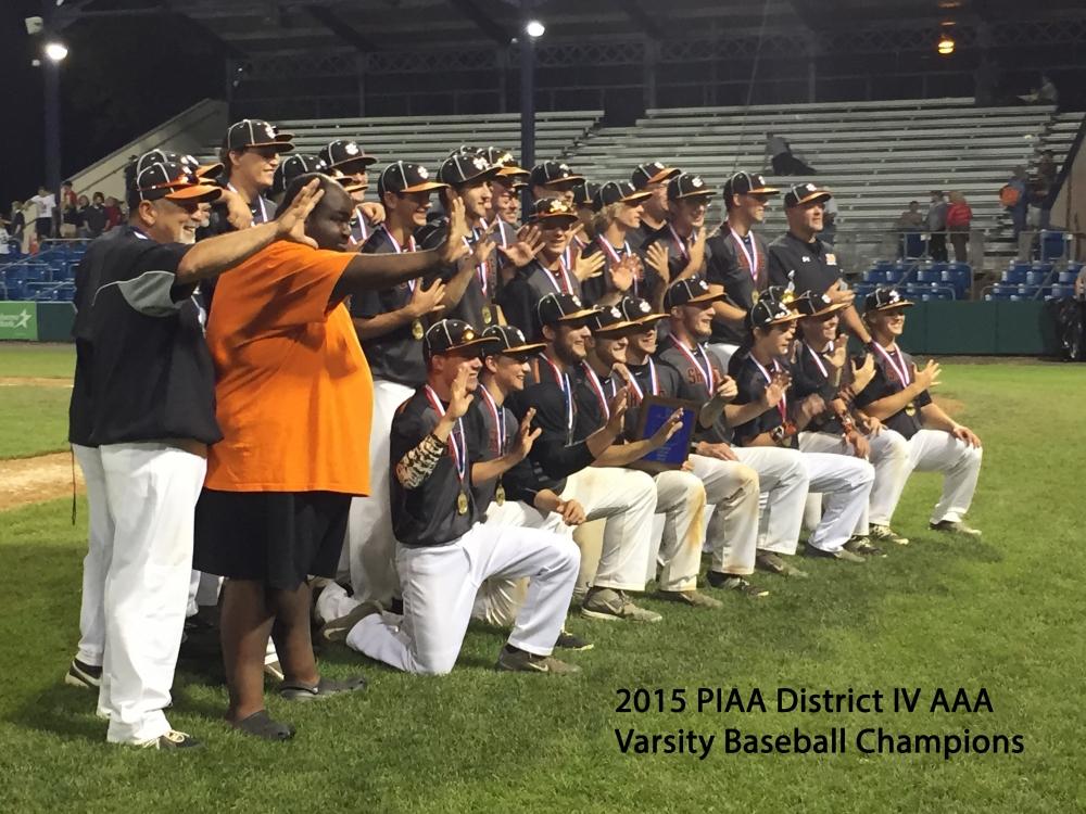 Varsity Baseball 2015 Distict Champions