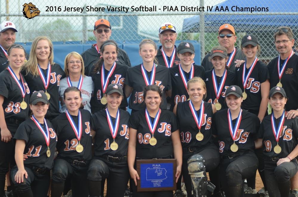Varsity Softball 2016 PIAA District IV AAA Champions